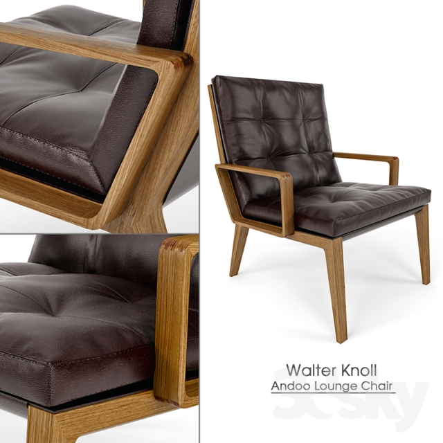 3d Models Arm Chair Walter Knoll Andoo Lounge Chair