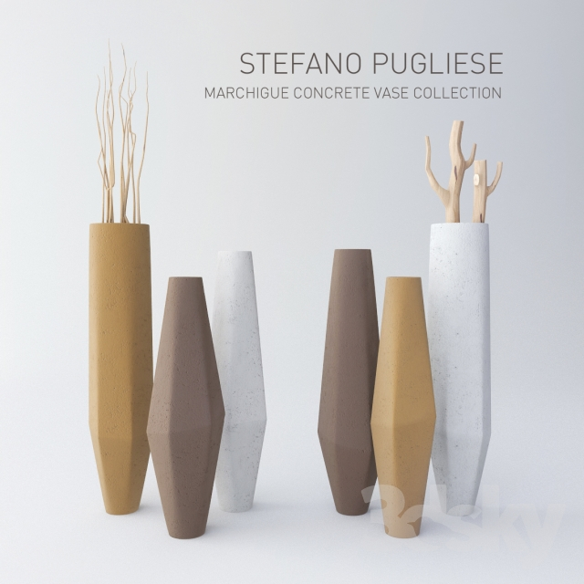 3d Models Vase Stefano Pugliese Marchigue Concrete Vase