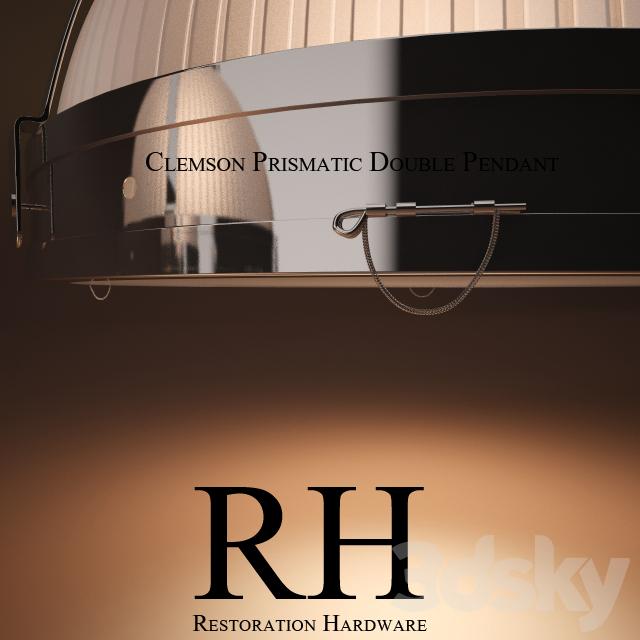 3d models ceiling light clemson prismatic double pendant aloadofball Images