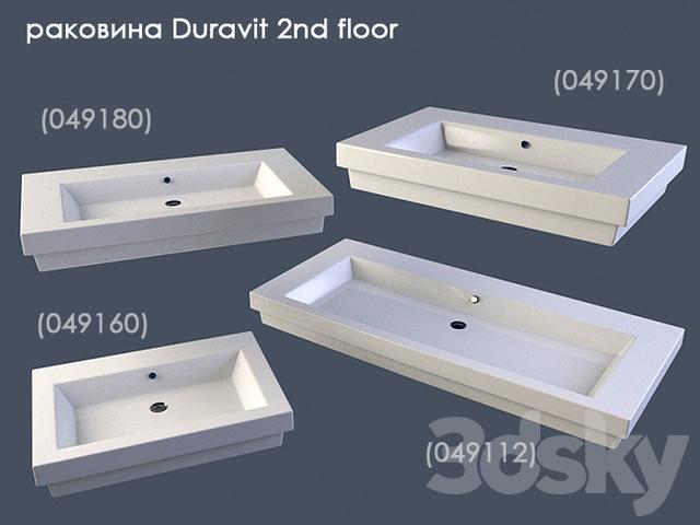 3d models: Wash basin - Sink Duravit 2nd Floor