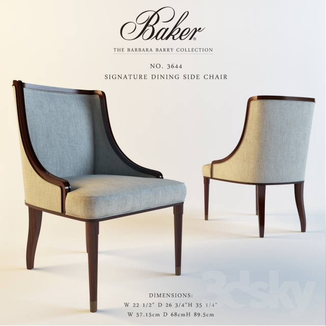 Baker 3644 SIGNATURE DINING ARM CHAIR