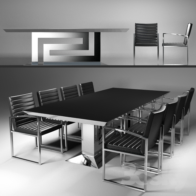 Table And Chairs Versace Greca Grand Dining Table U0026amp; ...