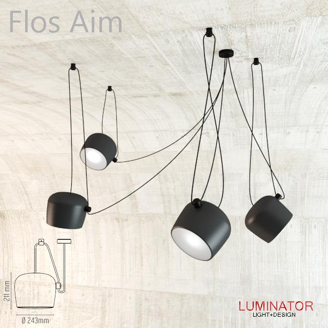3d models: Ceiling light - Flos Aim