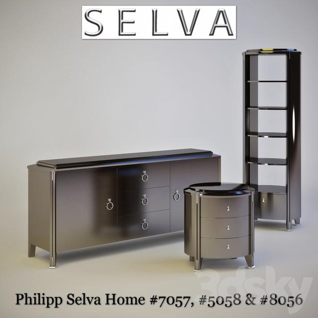 3d models sideboard chest of drawer philipp selva. Black Bedroom Furniture Sets. Home Design Ideas
