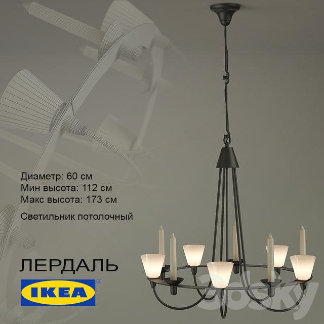 3d models ceiling light lerdal. Black Bedroom Furniture Sets. Home Design Ideas