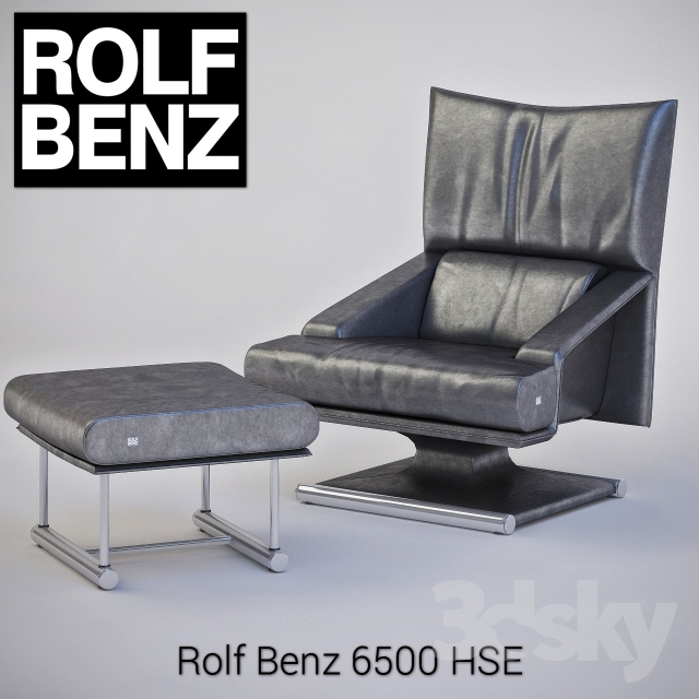 3d models arm chair rolf benz 6500 hse. Black Bedroom Furniture Sets. Home Design Ideas