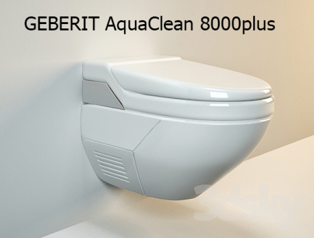3d models toilet and bidet geberit aquaclean 8000plus. Black Bedroom Furniture Sets. Home Design Ideas