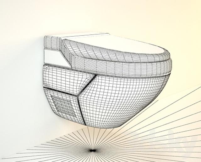 3d models toilet and bidet geberit aquaclean 8000plus. Black Bedroom Furniture Sets. Home Design Ideas