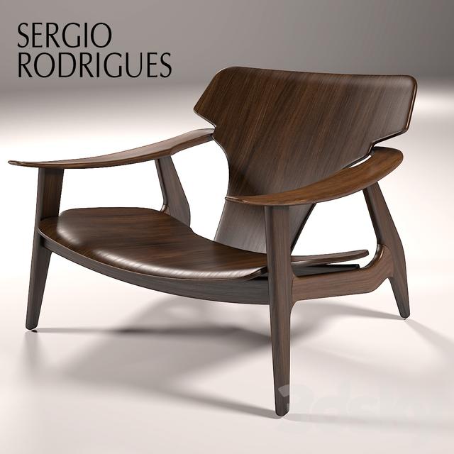 Sergio rodrigues poltrona diz & 3d models: Arm chair - Sergio rodrigues poltrona diz