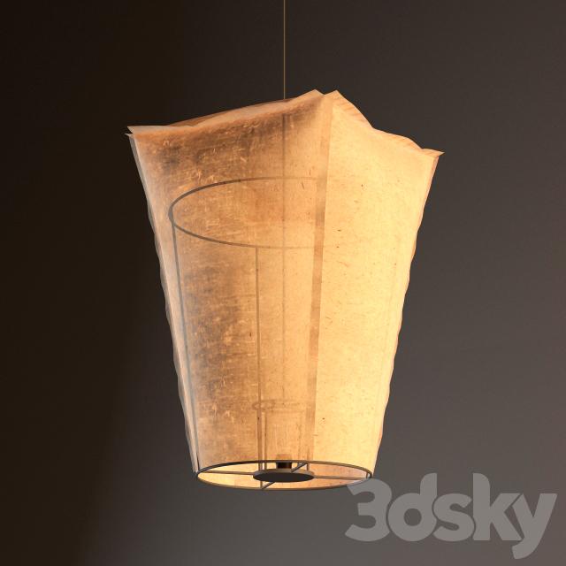 3d Models Ceiling Light Paper Lantern