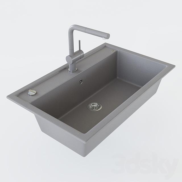 Blanco Linus S 3d models sink sink blanco dalago 8 and mixer blanco linus s