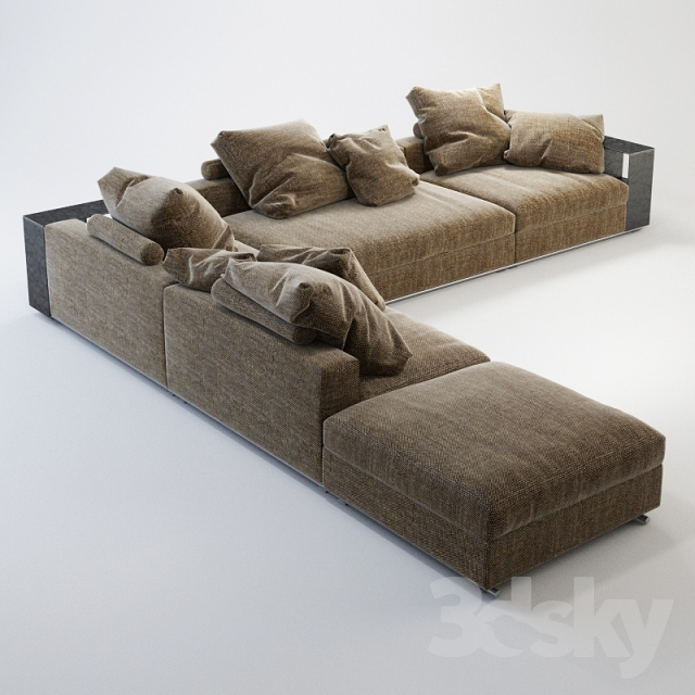 3d Models Sofa Flexform Groundpiece