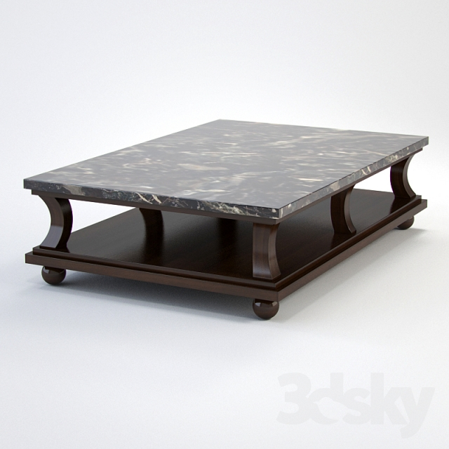 3d models table baker barbara barry 9155 muso coffee table Barbara barry coffee table