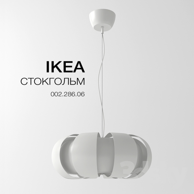 3d models ceiling light ikea stockholm. Black Bedroom Furniture Sets. Home Design Ideas