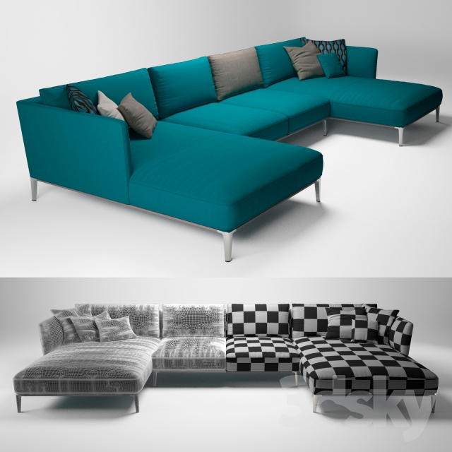 3d models sofa rolf benz scala. Black Bedroom Furniture Sets. Home Design Ideas