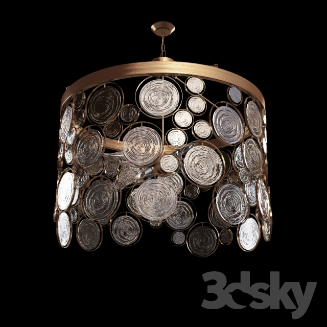 3d Models Ceiling Light Emery Recycled Chandelier Emery