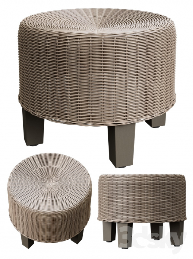 3d models other soft seating wicker ottoman ikea sky. Black Bedroom Furniture Sets. Home Design Ideas