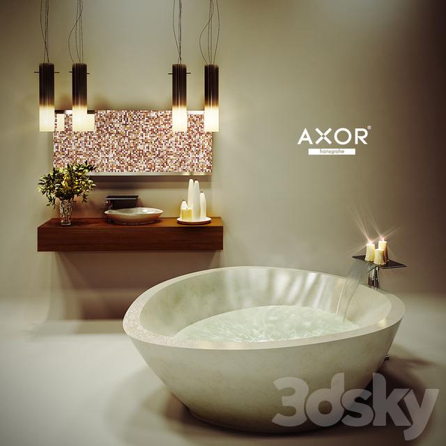 3d models: Bathtub - Axor Massaud + trivia bathroom