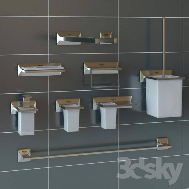 3d models bathroom accessories grohe allure brilliant. Black Bedroom Furniture Sets. Home Design Ideas