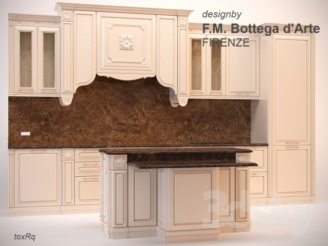 3d models: Kitchen - FM Bottega d'Arte - FIRENZE