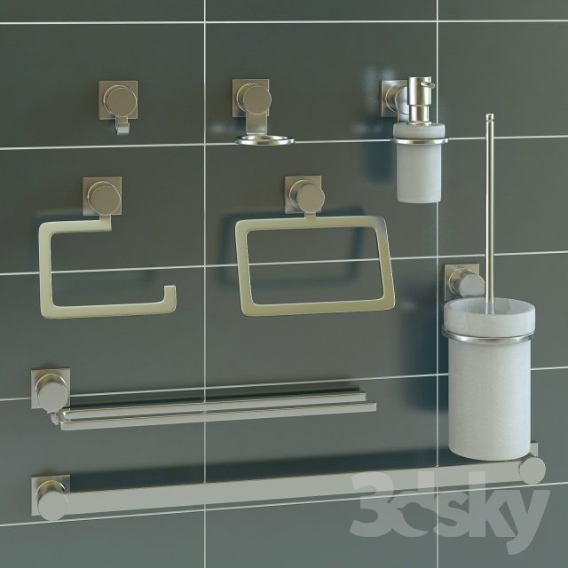 Set Of Bathroom Accessories Grohe Allure