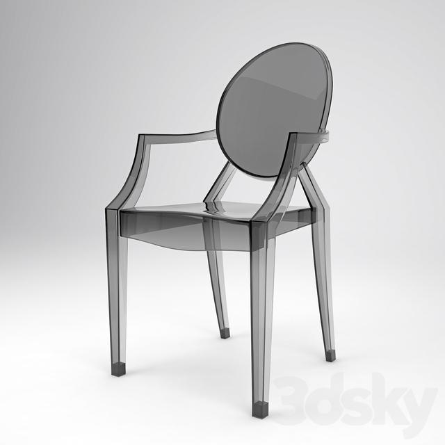 3d models: Chair - Louis Ghost Kartell