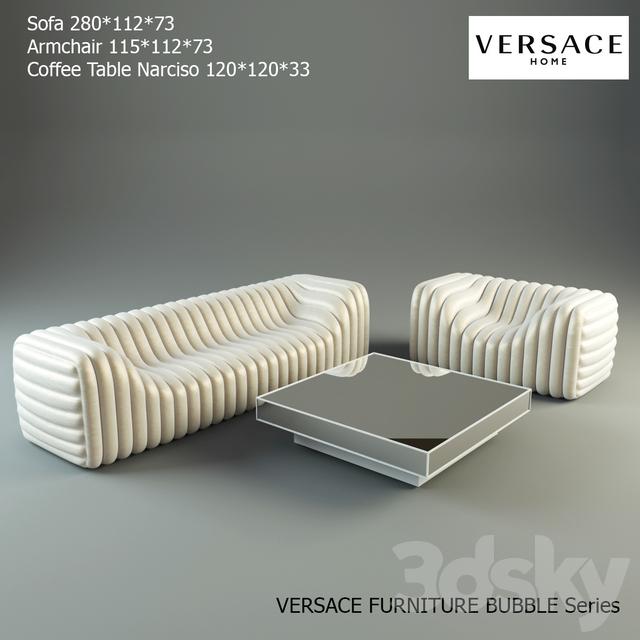 3d models: Sofa - Versace furniture Bubble Series
