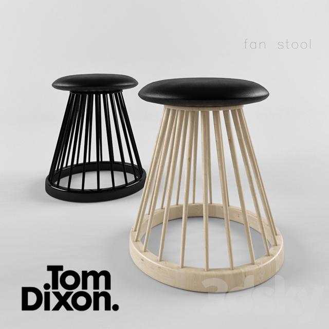 3d Models Chair Tom Dixon Fan Stool