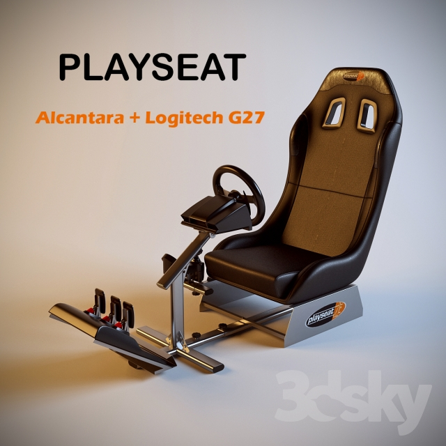 Gaming Chair Playseat Alcantara + Logitech G27