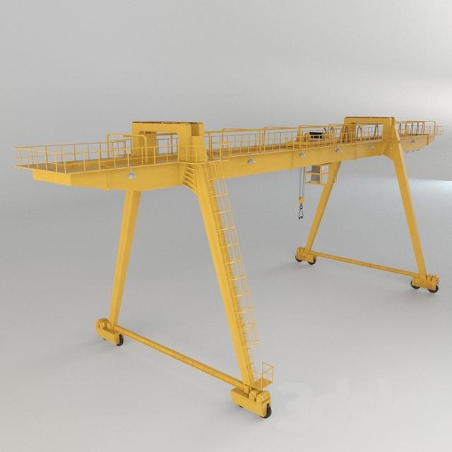 3d models: Other architectural elements - Gantry crane