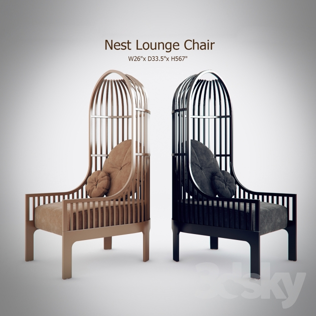 Charmant 3d Models: Arm Chair   Nest Lounge Chair