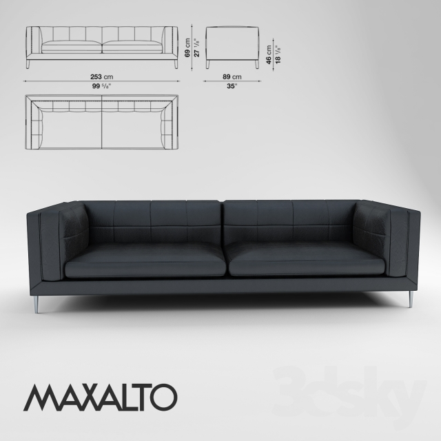 3d models sofa sofa maxalto dives. Black Bedroom Furniture Sets. Home Design Ideas