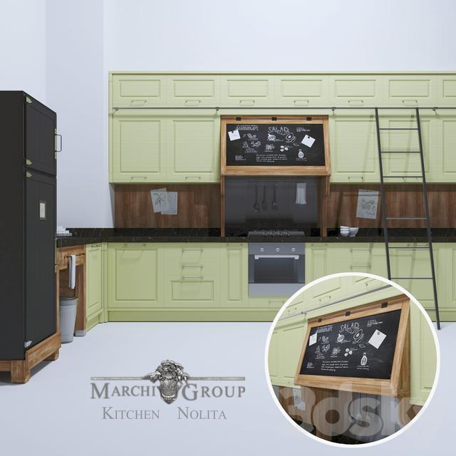 3d models: Kitchen - Marchi Group Cucine NOLITA