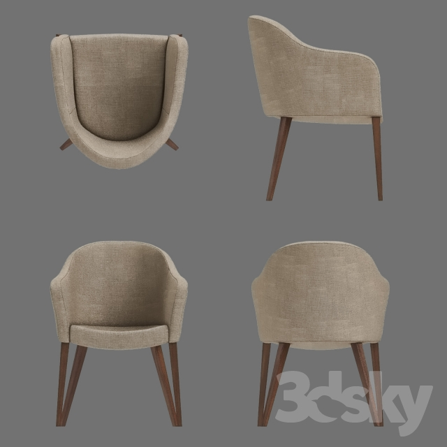 3d models: Chair - Calligaris Gossip Dining Chair