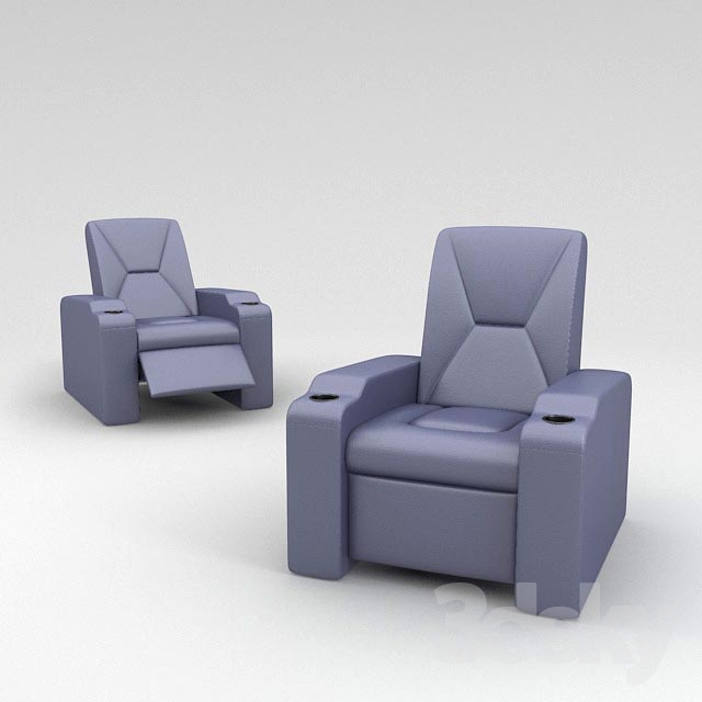 3d Models Arm Chair Home Theatre Seating Ls 805
