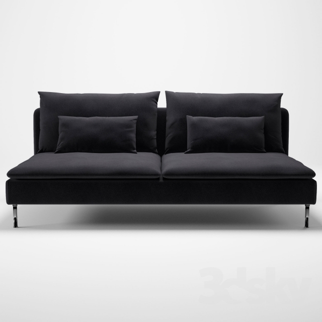 3d models sofa soderhamn ikea. Black Bedroom Furniture Sets. Home Design Ideas