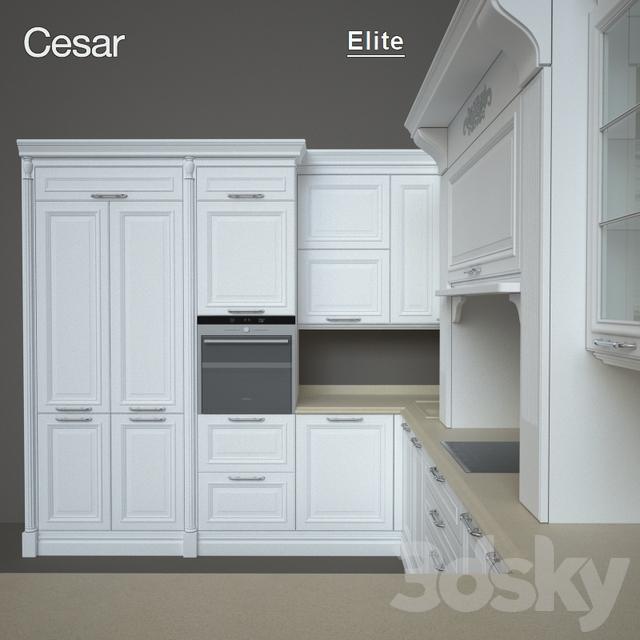 3d models: Kitchen - Kitchen Elite factory Cesar