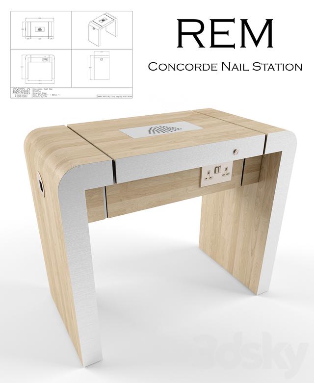 3d models: Beauty salon - REM Concorde Nail Station