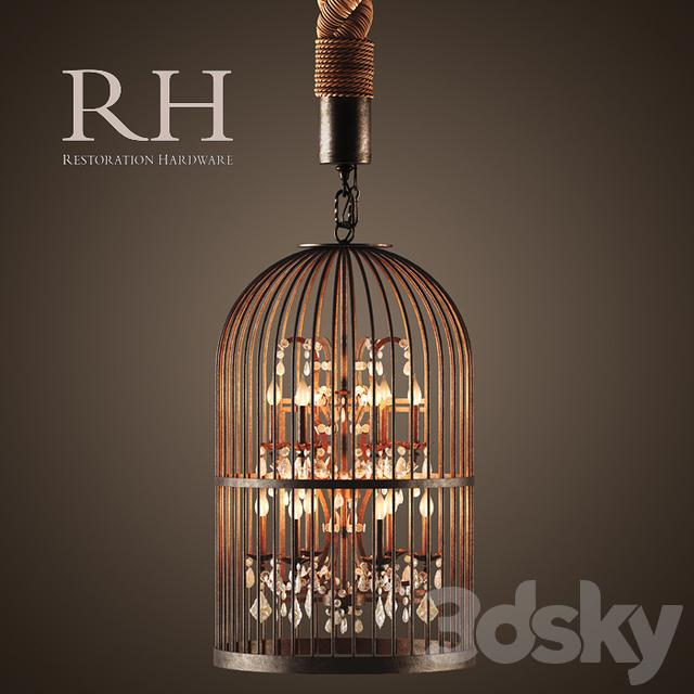Rh Vintage Birdcage Chandelier Extra Small