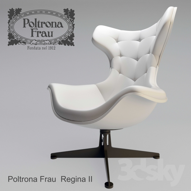 Poltrona Regina Frau.3d Models Arm Chair Kreslo Poltrona Frau Regina Ii