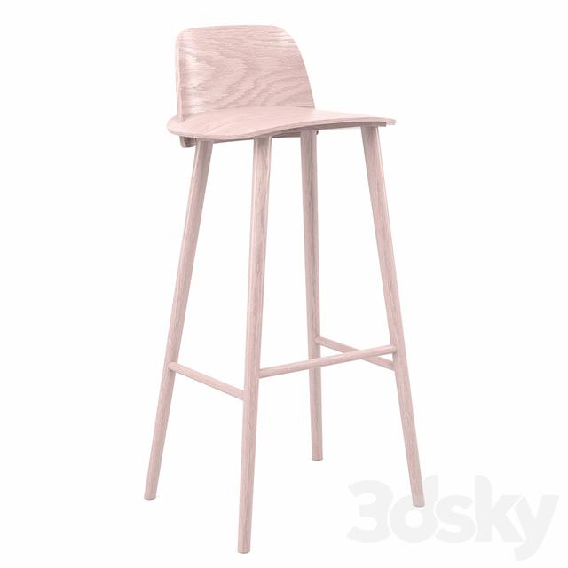 3d Models Chair Muuto Nerd High Stool
