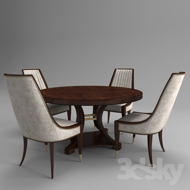 Table + Chairs From The Collection Of ST JAMES PLACE Company Schnadig