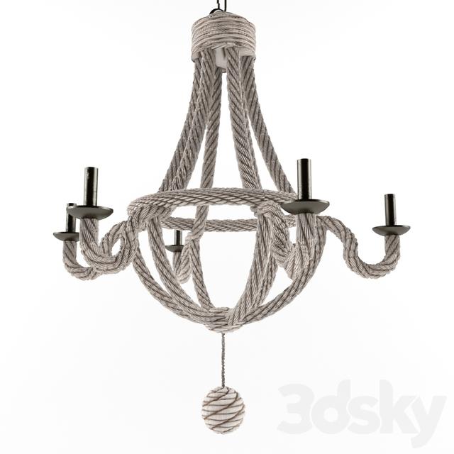 3d models: Ceiling light - HANGING ROPE LIGHT WINE