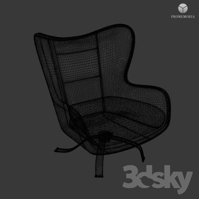 3d models Arm chair Promemoria Butterfly Lounge Chair