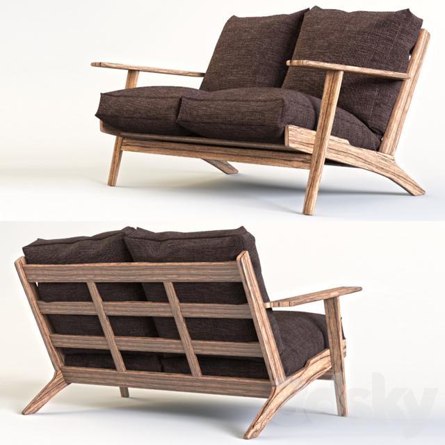 3d Models Sofa Sofa Hans Wegner Plank Sofa