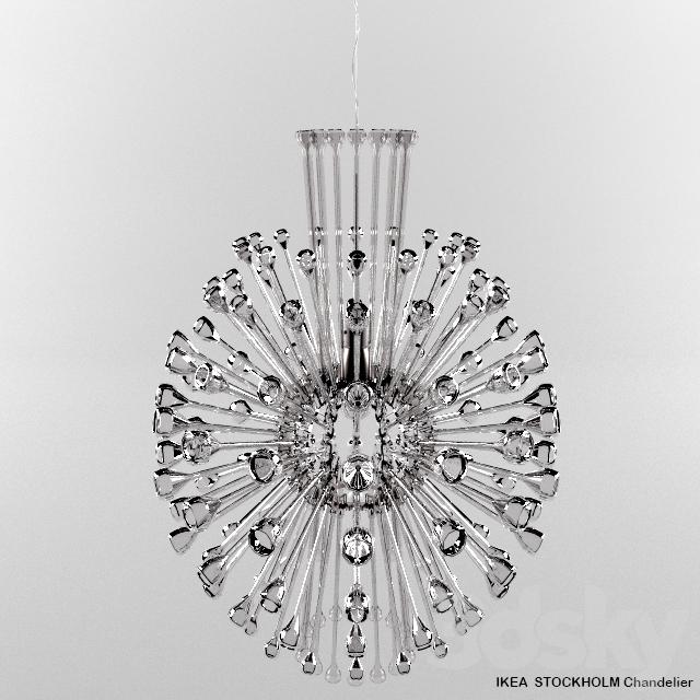 STOCKHOLM Chandelier - 3d Models: Ceiling Light - STOCKHOLM Chandelier