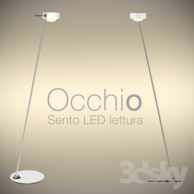 3d models floor lamp occhio floor luminaire sento led. Black Bedroom Furniture Sets. Home Design Ideas