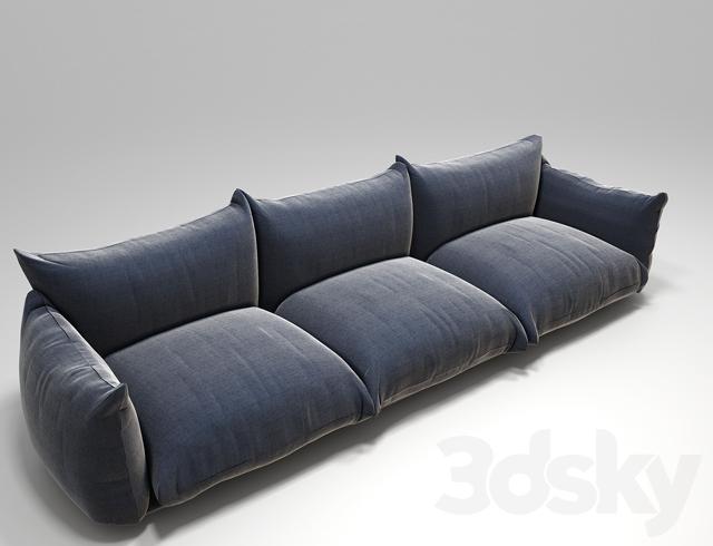 3d models: Sofa - Arflex Marenco