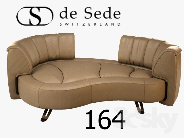 3d models sofa de sede ds 164. Black Bedroom Furniture Sets. Home Design Ideas