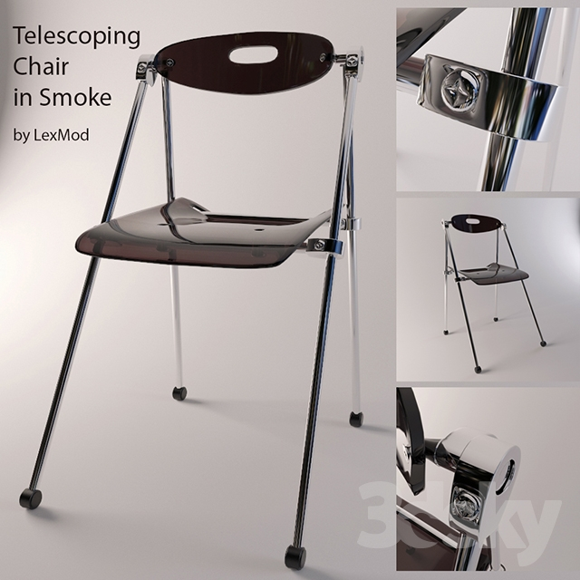 Charming 3d Models: Chair   Telescoping Chair In Smoke